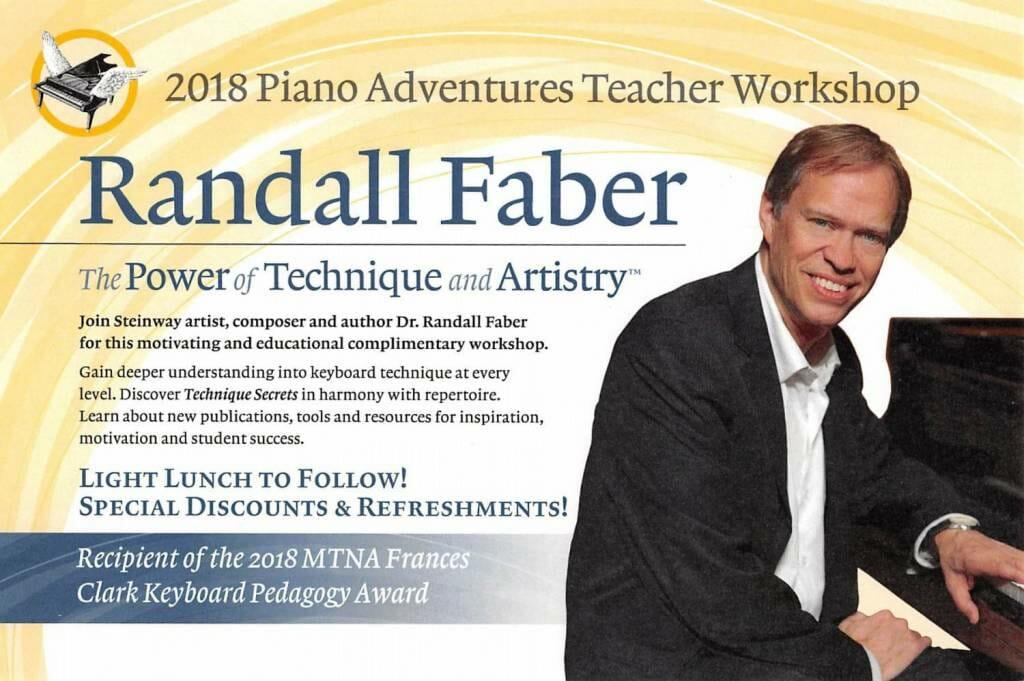Hal Leonard 2018 Piano Adventures Teacher Workshop @ Ruggero Piano