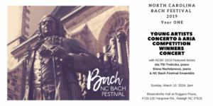 NC Bach Festival 2019 Winners Concert with Featured & Guest Artists @ Ruggero Piano